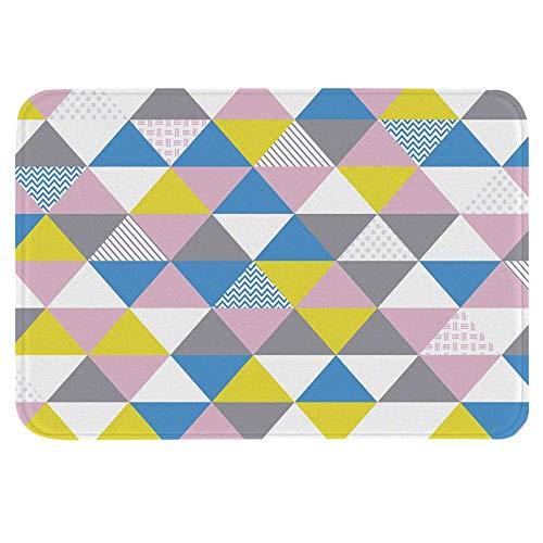 zsxaaasdf Estera de Piso de celosía de Mosaico geométrico Alfombrilla de Piso Gruesa Antideslizante Franela Esponja Alfombra de Puerta Interior Absorbente 40x60cm / 45x75cm (09,40x60)