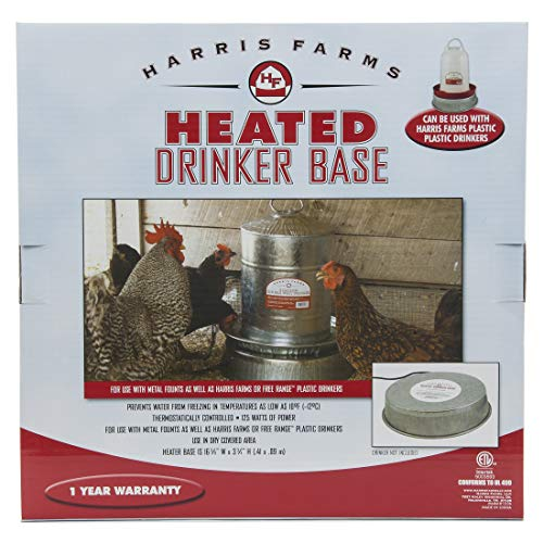 Harris Farms Heated Poultry Drinker Base