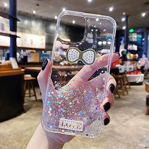 Miagon Glitter Paillette Brillant Coque pour Xiaomi Mi 10T Pro,Fille Femme Transparent Cover Scintillait Étoile Silicone Flexible Étui Housse,Noeud d'arc Clair