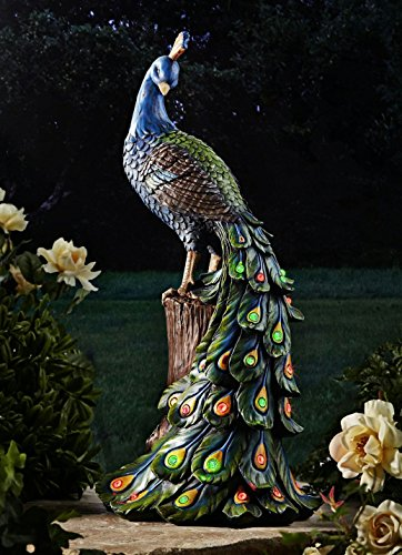 Gartenfigur Pfau