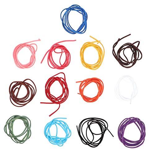 Artibetter 20 Stks Suede Armband Koorden 1 M Kleurrijke Lederen Armband Maken Koorden Diy Sieraden Riemen Lanyards Voor Ketting Kralen Ambachten (Gemengde Kleur)