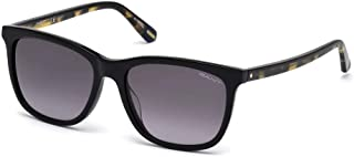 Just Cavalli Cat Eye Sunglasses JC832S Shiny Black/Gradient Smoke for Women (GA806401B56 01B)