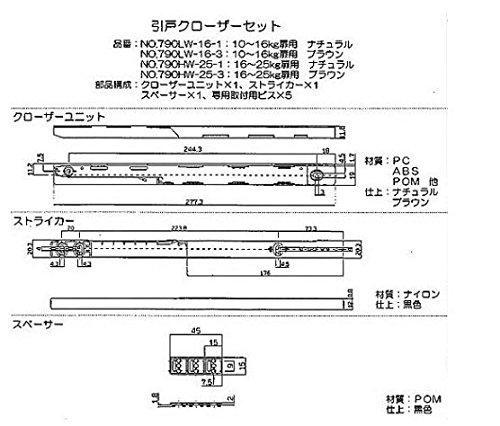 ベスト『引き戸クローザー(790HW)』