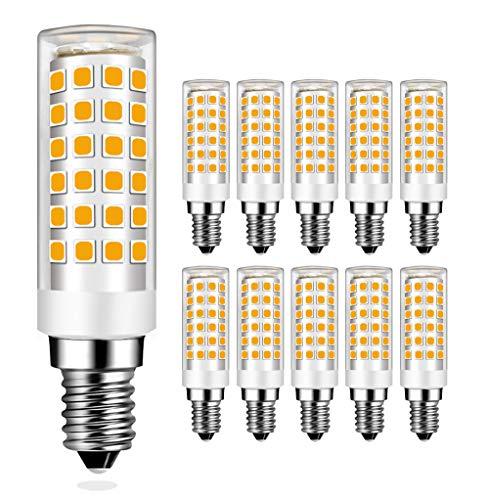MENTA E14 LED Lampe Warmweiß 3000K mit 76 SMD LEDs, 9W Ersatz 75W Halogenlampen, 750LM, 360° Abstrahlwinkel, E14 LED Birne, 10er Pack