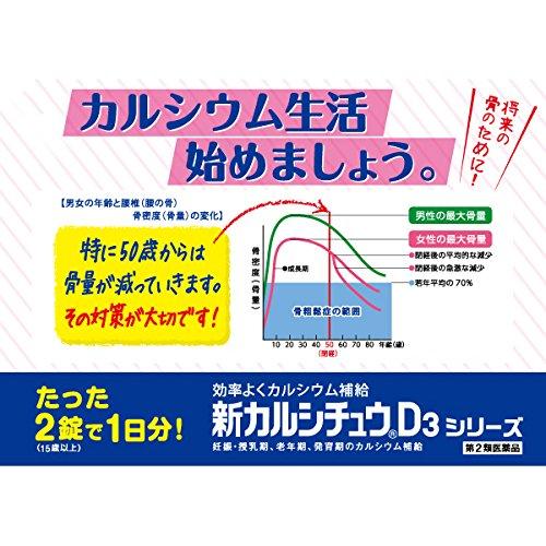『【第2類医薬品】新カルシチュウD3 100錠』の2枚目の画像