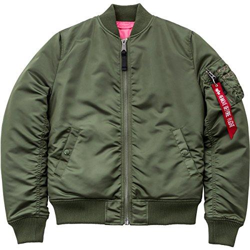 Alpha Industries Jacke MA-1 TT Long, Größe:L, Farbe:sage-green