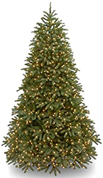 National Tree Company  Feel Real  Pre-lit Artificial Christmas Tree | Includes Pre-strung Multi-Color LED Lights and Stand | Jersey Fraser Fir Medium