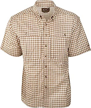 Featherlite Plaid Wingshooter s Shirt Short Sleeve  Brown Large