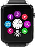 GPCT Bluetooth [Android/iOS] Touch Screen [Water Resistant] Workout/Sleep/Heart Rate Monitor [Smart Watch] for iPhone 7 Plus/7/6s Plus/6s/6/5, Galaxy Edge/S6/S5, HTC, Sony, LG, Smart Phone (Silver)