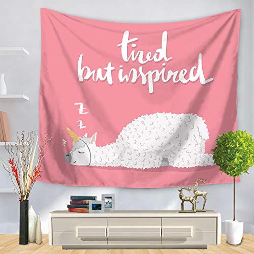 Tapiz psicodélico Alpaca hippie Decoración psicodélica Tapiz bohemio Mandala Mandala Sala de estar decoración del dormitorio (XL / 180x230cm franela)