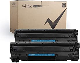 V4INK New Compatible Toner Cartridge Replacement for HP 83A CF283A (Black,2-Pack),for use in HP LaserJet Pro MFP M125nw M125a M201dw M201n M127fn M127fw M225dw M225dn Printers