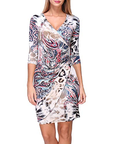 Revdelle - Robe Cache Coeur Col V Made in France Manches Longues pour Femme Myriam