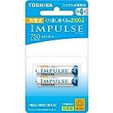 TOSHIBA ニッケル水素電池 充電式IMPULSE スタンダードタイプ 単4形充電池(min.750mAh) 2本 TNH-4ME2P