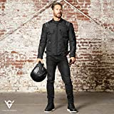 Viking Cycle Ironborn Protective Textile Motorcycle Jacket for Men - Waterproof, Breathable, CE Approved Armor for Bikers (Black, X-Small)