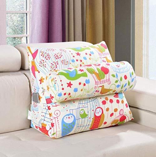HXF - Coussin oreiller pour personne paresseuse lavable double usage oreiller triangulaire lecture grand dos lit support doux (couleur : B, taille : 60 x 22 x 50 cm)