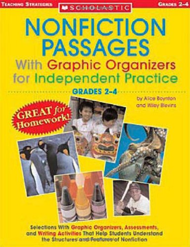 Compare Textbook Prices for Nonfiction Passages With Graphic Organizers for Independent Practice: Grades 2-4: Selections With Graphic Organizers, Assessments, and Writing ... the Structures and Features of Nonfiction  ISBN 9780439590181 by Boynton, Alice,Blevins, Wiley