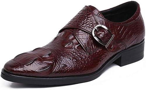FLYSXP Los zapatos De Vestir para hombres De Negocios Puntiagudos Los zapatos De Los hombres Usan zapatos De Trabajo zapatos De Estilista De Moda botas de Cuero de los hombres