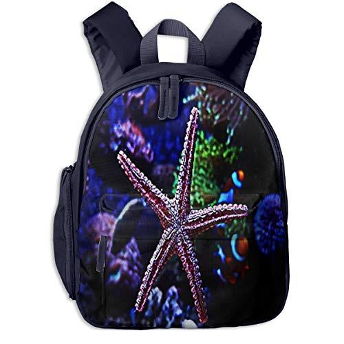 Kinderrucksack Kleinkind Jungen Mädchen Kindergartentasche Unterwasser Starfish Marine Aquarium Backpack Schultasche Rucksack