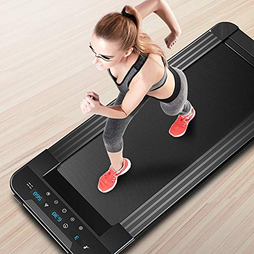 Draagbare gemotoriseerde platte loopbanden Gym Huishoudelijke Kleine opvouwbare Ultrastille Indoor Fitnessapparatuur Multifunctionele afstandsbediening Machine Running Walking Machine Walker