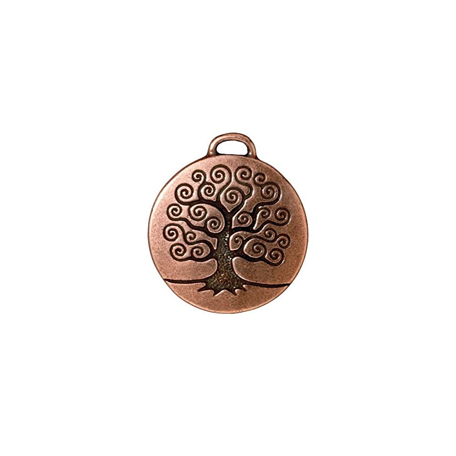 TierraCast 94-2304-18 Tree of Life Charm 26mm Antique Copper