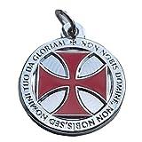 Gemelolandia | Colgante Cruz Templaria Non Nobis, Domine, Non Nobis, Sed Nomini Tuo Da Gloriam 22 Mm | Collar Casual Para hombres y Mujeres
