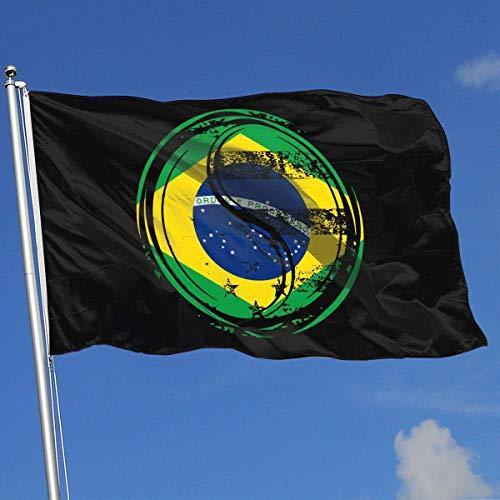 Zudrold Banderas al Aire Libre Bandera de la Bandera de Brasil de Yin Yang para fanático de los Deportes Fútbol Baloncesto Hockey sobre béisbol