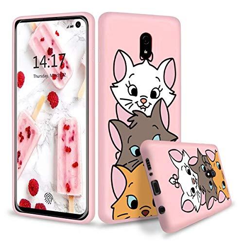 Pnakqil Funda Xiaomi Redmi 8A Rosa Silicona con Dibujos Ultra Slim y Ligero Suave Carcasa Gel TPU Soft Piel Case Antigolpes...