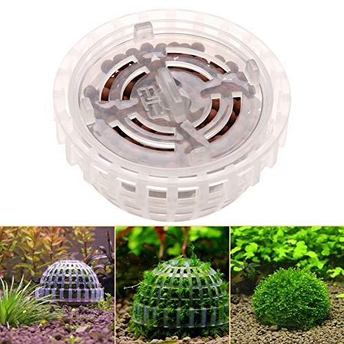 PowerBH Transparente dekorative Gartenkunst-natürlicher Mineralwasser-Moos-Ball Floating Moss Ball-Aquarium-Dekoration