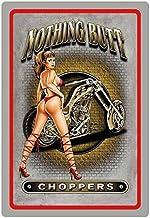 Cartel de Chapa genérica 20 x 30 cm Nothing Butt Choppers Sexy Pinup Girl Erotik Moto Cartel
