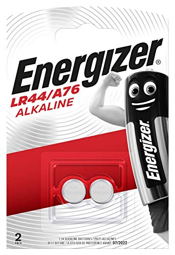 Energizer LR44/A76 Batterien, Lithium Knopfzelle, 2 Stück