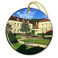 モンバードフランスフォンテネイ修道院クリスマスオーナメントセラミックシート旅行お土産ギフト