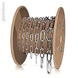 Seilwerk STANKE 1m 2mm Rundstahlkette langgliedrig METERWARE verzinkt Stahlkette -- DIN Eisenkette Stahl Eisen Kette abgerundet