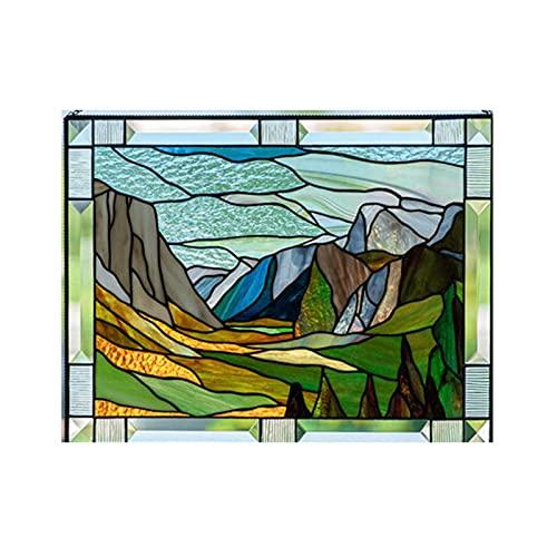fasloyu Glasmalerei Vogel Fensterbehänge, Kristall-Sonnenfänger, glasvögel Ornamente Hängen,buntglas Fensterbild, Persönlichkeit Vögel Fensterbehänge Sonnenfänger, Acryl Vogel Wanddekoration (11#)