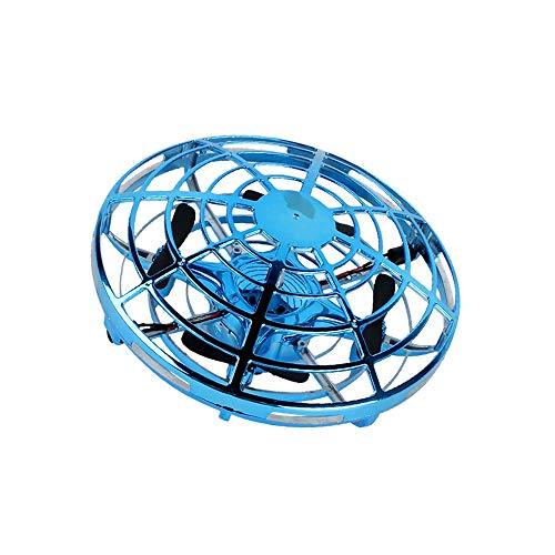 Bola de vuelo Tõyy Drones Operado a mano Drones para niños o adultos - Scoot Volar Ball Drone con 360 ° Rotación y intermitente LED luces Mini Drone para niños y niñas Regalos para niños (azul) j