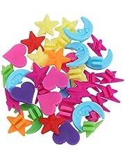 VORCOOL kinderfiets spaken clip decoratie kleurrijke sterren maan en flits