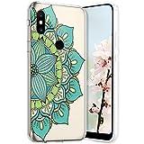 Compatible avec Xiaomi Mi Mix 2S Coque en Silicone Transparente Motif Mandala Fleur Jolie Housse de...