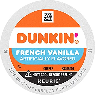 Dunkin' French Vanilla Flavored Coffee, 60 K Cups for Keurig Coffee Makers (Packaging May Vary)