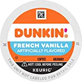 Dunkin' French Vanilla Flavored Coffee, 60 Keurig K-Cup Pods
