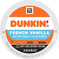 Contains 6 Boxes of 10 K-Cup Pods (60 Count Total) For use in all Keurig K-Cup Brewers Medium roast coffee Crave worthy vanilla flavor America runs on Dunkin!