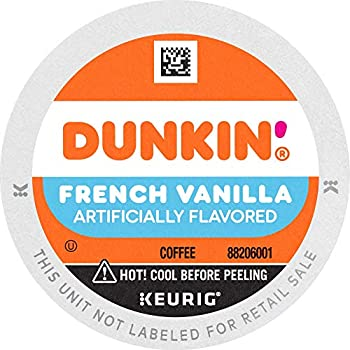 Dunkin  Donuts Coffee French Vanilla Flavored Coffee K Cup Pods for Keurig Coffee Makers 88 Count