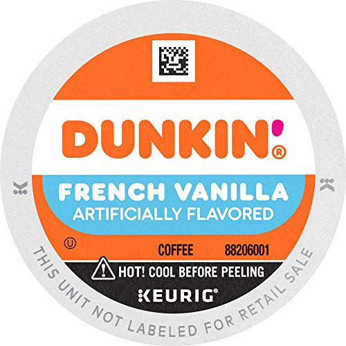 Dunkin' French Vanilla Flavored Coffee, 88 Keurig K-Cup Pods