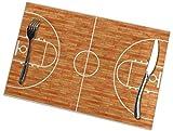 Table Mat,Mantel Individual De Madera De La Cancha De Básquet, Sistemas Lindos Divertidos del Mantel Individual para La Fiesta En Casa Set of 4,30x45cm