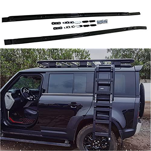 WYYUE Aluminio Bacas para VehíCulos, Barra de Techo, Compatible con Land Rover Defender 2020 2021 Barra De Techo Portaequipajes para Coche Juego Techo Aluminio, Carga Transporte Barra