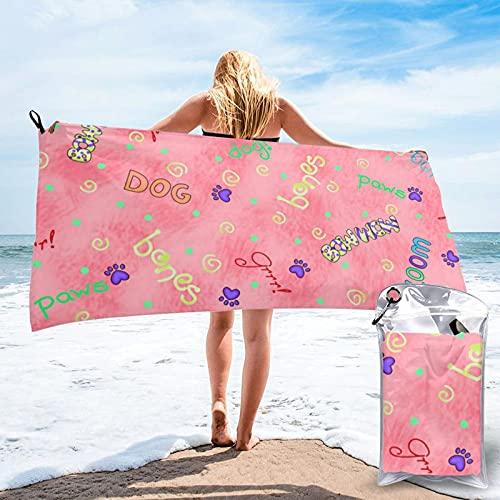 CERYS RILEY Palabras de perro naranja Coral toalla de secado rápido baño Pascua senderismo champing interior al aire libre cosas para adultos niñas y niños