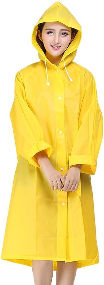 Women Yellow Raincoat Inexpensive Jacket Unisex Kids EVA Cos Rain Coat Clear Raleigh Mall