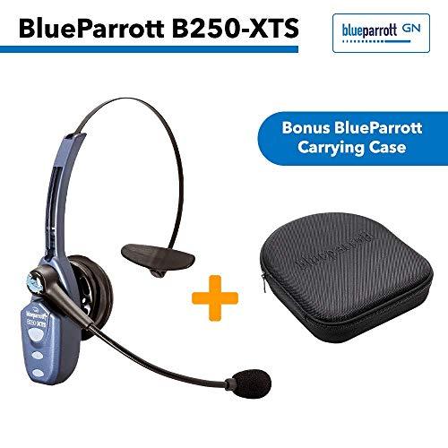 VXi BlueParrott B250-XTS (203100) Xtreme Noise Suppression Bluetooth Headset with Bonus Protective Carrying Case