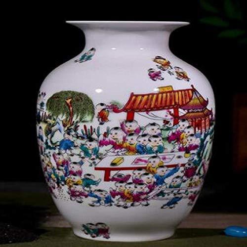 Vase Alte Mode Schneelandschaft Blumenvase Home Decoration Keramikvasen Violett