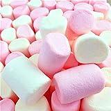 100% Natürlich Gefärbte Marshmallows Rosa Weiße Tubes Große flauschige und