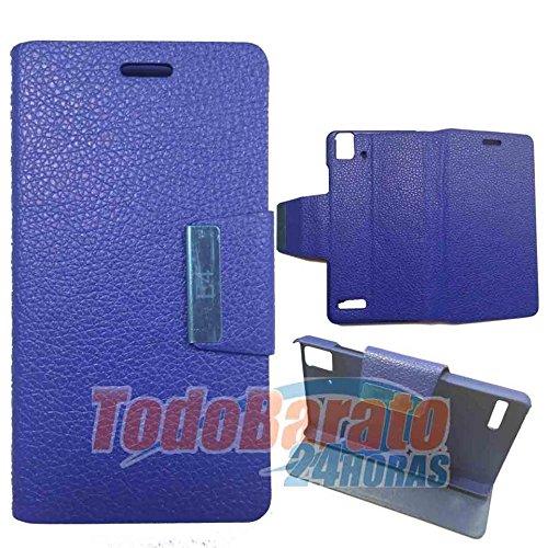 Todobarato24h Funda Libro Azul Fnac Phablet 2 4.0 Pulgadas Compatible con BQ Aquaris E4.0