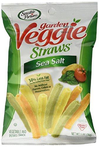 Sensible Lowest price challenge Portions Garden Atlanta Mall Veggie Straws Sea Salt oz of 1 Pack